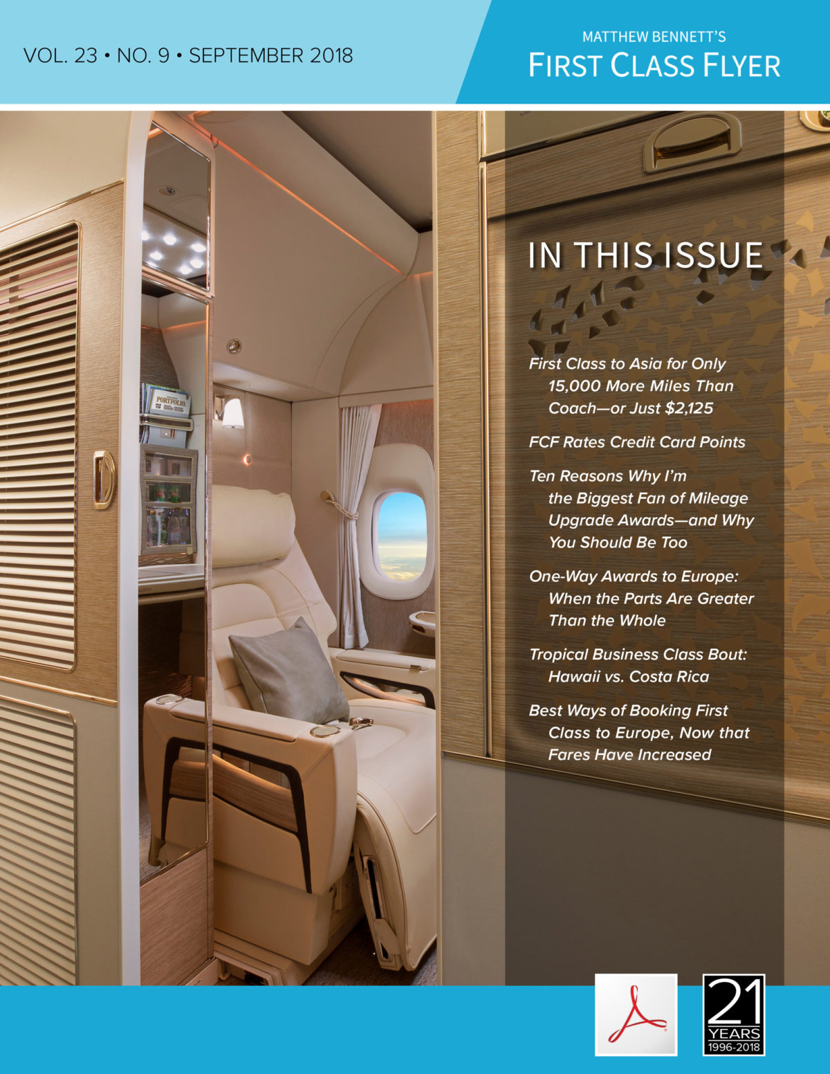 Issue Fly First Class to Europe Asia Hawaii